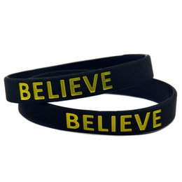 Wear Bracelet Australia - Wholesale 100PCS Lot Justin Bieber Believe Silicone Bracelet Wear This Latex-Free Wristband To Support The One You Love