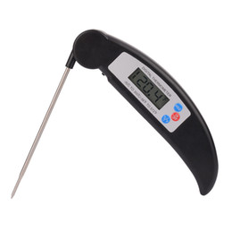 Discount outdoor kitchens grills - free shipping Folding probe barbecue grill thermometer kitchen food electronic food thermometer
