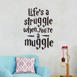 """$enCountryForm.capitalKeyWord Canada - """"Life Is A Struggle..."""" Wedding Decoration Funny Harry Potter Wall Stickers Quotes Vinyl Wall Decals for Teens Room Wall Decoration"""