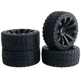 $enCountryForm.capitalKeyWord UK - 4pcs RC 601-6017 Flat Racing Tires Tyre Wheel Rim Fit HSP HPI 1:10 On-Road Car