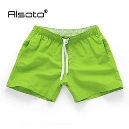 Styles Courts Pour Les Hommes Pas Cher-Vente en gros-style d'été Hommes Running Shorts Slim Solid Color Basketball Fitness Sport Surf Board Short Pants Beach Shorts Homme Moda Praia