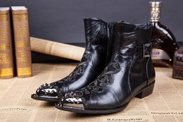 $enCountryForm.capitalKeyWord Canada - Plus Size 2017 Leather Men Ankle Boots,Rivets Club Shoe For Man,Fashion Men Cowboy Shoes,New Brand Male Riding Shoes
