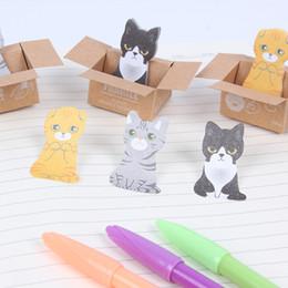 Cat stiCky notes online shopping - 2017 New Hot Sale Kawaii Stationery Cat Sticky Memo Pad Cute Animal Sticky Note Office Post it Note Scrapbook Sticker