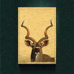 Modernismo Abstrato Da Arte Da Lona Antílope Pintura Imprimir em Canvas Wall Art Decor Animal Canvas Poster Pictures para Sala de estar Pintura de Parede venda por atacado