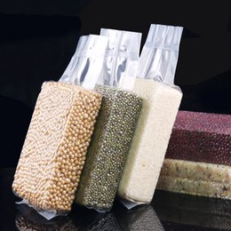 wholesale stand up pouch 2019 - 10x5x32cm Stand Up Vacuum Food Saver Storing Packaging Clear Plastic Bags Snacks Dry Fruit Beans Rice Tea Package Heat S