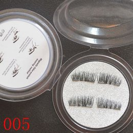 Top False Eyelashes NZ - Top Quality 3D Magnetic False Eyelashes Extension Magnetic Eyelashes Makeup Soft Hair Magnetic Fake Eyelashes with retail packaging 100 lots