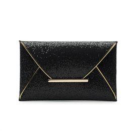 Black envelop online shopping - 1pc new Fashion Women Sexy Sequin Clutch Bag Purse wallet Lady Handbag envelop bag evening bag by goodfiathgirl