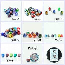 tfv8 wide bore drip tips Australia - 7 Styles Demon Killer Epoxy Resin Drip Tip Colorful Wide Bore Mouthpiece for TFV8 TFV12 Cleito Goon 528 510 Tank Atomizers Vape