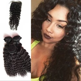 $enCountryForm.capitalKeyWord NZ - Deep Wave Hair 4 Bundles With 4X4 Lace Closure With Baby Hair 100% Malaysian Human Wefts LaurieJ Hair