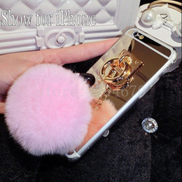 $enCountryForm.capitalKeyWord UK - 2017 Silver Metal Rope Mirror Tassel case phone fake fur ball For Galaxy J310 2016 For Galaxy J210 2016 Back Cover Case