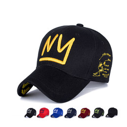bfb4d7b6a0f Wholesale- Lovely Women Men Gorras NY Embroidery Snapback hip hop hats  Casquette truck Cap Make old New York baseball caps