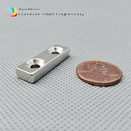 $enCountryForm.capitalKeyWord Canada - 48pcs NdFeB Fix Magnet 30x10x5mm with M4 Screw Countersunk Hole Block N42 Neodymium Rare Earth Permanent Magnet
