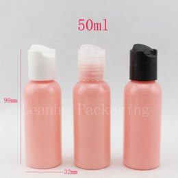 $enCountryForm.capitalKeyWord NZ - 50ml X 50 pink colored empty PET cosmetic bottles container with press cap , 50cc travel size plastic bottles with screw caps