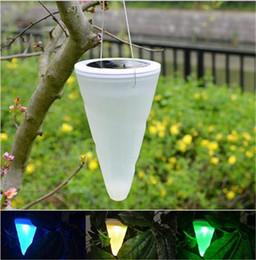 Outdoor Solar Energy Hang Lanterns White Rgb Colourful Automatic Light Led Solar Light Conical Lamp Tree Decoration Balcony