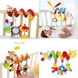 Baby Rattles Australia - Baby Toys 0-12 Month Infant Stroller Bed Cot Crib Hanging Infant Kids Educational Cartoon Animal Pattern Rattles Toy