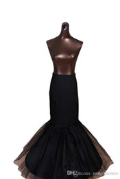Chinese  Cheap Mermaid Bridal Petticoat One-Hoop Bone Elastic Waist Underskirt For Mermaid Wedding Dress Crinoline Trumpet Free Shipping New manufacturers