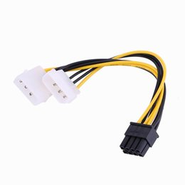 Male pins 4pin online shopping - inch cm Pin PCI Express Male To Dual LP4 Pin Molex IDE Power Cable Adapter
