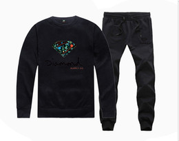 long lining supplies 2019 - H885045 Hot-sale Diamond Supply Sweatshirts +PANTS suit for Men and Women Fleece Lined Hip Hop Skateboard Crewneck hoodi