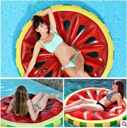 Inflatable Pool Boat Float Canada - New Arrival Watermelon Inflatable Float 1.6m Giant Lemon Inflatable Float Swim Toys Sunbathing Women Pool Party Swimming Toys For Adults