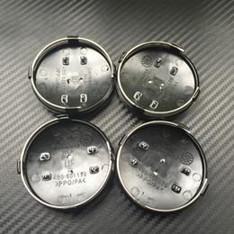 $enCountryForm.capitalKeyWord NZ - 20pcs 60mm Car Wheel Center Caps For A3 A4 A5 A6 Q3 Rims Cover Emblem Badge Fit Auto Cars Black Gray 4B0601170 , Hub Caps