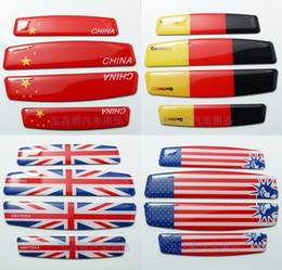 Wholesale pieces Aluminum ITALY ENGLAND USA AMERICAN GERMANY Flag Emblem Chrome Car Decal Sticker Car styling door sticker