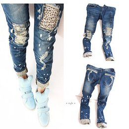 Pantalon Maigre Pour Dames Pas Cher-Vente en gros- New Fashion Women Ladies Casual Leopard Slim Pencil Jeans Pantalons Pantalons Skinny
