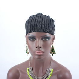 Glueless Wig Braids For Australia - 10pcs Braids Hair Wig Cap Crochet Wig Caps Easy Sew In Cornrows Cap Elastic Crochet Braids Glueless Wig Braided Caps For Making Wigs