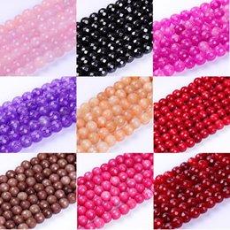 1 pack / lot 8mm de Alta calidad multicolor redondo gema de múltiples facetas cuentas de piedra natural para la fabricación de joyería DIY pulsera en venta