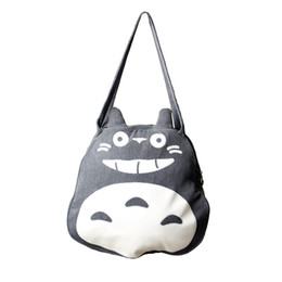 8b2519f7cb9e Preppy Style Women Large Totoro Bag High Quality Canvas Causal Tote Bags  Cartoon Funny Single Shoulder Bags for Teenage Girl