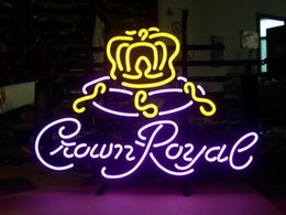 "tavern sign Australia - 17""x14"" New Crown Royal Whiskey Beer Pub Bar Tavern Wall Decor Artwork Neon Light Sign"