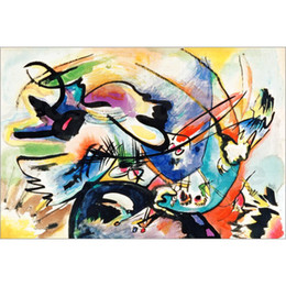 China Hand painted wall picture Wassily Kandinsky paintings Rot mit Schwarz. modern Canvas art hand-painted supplier wassily kandinsky paintings suppliers
