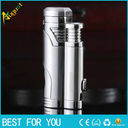 hot sales honest new golden tiger on the 1st double torch lighters can drill smoking pipe lighter fashion jet lighter tools