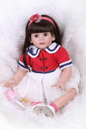 $enCountryForm.capitalKeyWord NZ - 24Inch Silicone Reborn Baby Doll Lying And Sitting Baby Alive Doll Realistic Princess Girl Wearing Sweet Clothes Look Genius