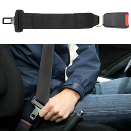 "Car Seat Belt Buckle Extender Canada - Universal Car Seat Belt Extender 14"" Length Extension Strap Safety 7 8"" Buckle Safety Belts Clip Extenders Automotive Seatbelts"