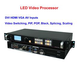 DVI HDMI VGA AV 6 Entrada LED Procesador de video HD Video Switcher para pantalla LED de espectáculo, etapa