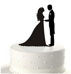 Custom Name Cake Toppers Canada - Personalized Black Wedding Cake Topper Acrylic Custom Name Cake Black Topper Custom Mr & Mrs Bilayer Casamento Structure Kitchen Dining Tool