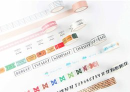 stationery stores Canada - Box packed DIY washi masking paper tape scrapbooking stickers decorative paper tape adhesive school stationery supply store 2016-M-785