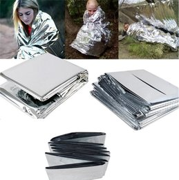 2018 car emergency bag Silvery Outdoor Pads Waterproof Emergency Survival Foil Thermal First Aid Rescue Blanket 83 x 52 inch   210 x 130 cm Sleeping Pads Bags I036 car emergency bag on sale