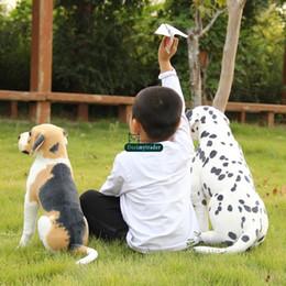 Discount dog christmas presents - Dorimytrader New Cute 55cm Big Simulated Animal Dog Plush Toy 22'' Giant Stuffed Soft Cartoon Dogs Kids Play D