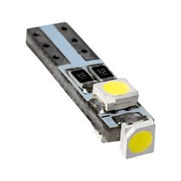 12v T5 Bulbs Canada - 100pcs T5 W3W W1.2W 70 73 74 79 85 Super bright 3 LED Car Dashboard warming indicator Wedge Light Bulb Auto Instrument Lamp 12V