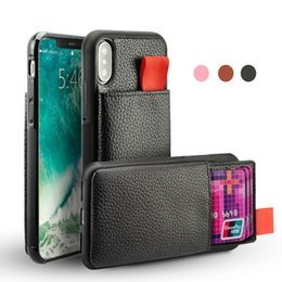 Black Blocks Australia - For iPhone 7 X Case Shockproof Leather Pouch Credit Card Holder TPU RFID Blocking Cases For iphone 8 7 6 Plus Back Cover