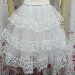 $enCountryForm.capitalKeyWord Australia - New Arrival Short Petticoats White Black Hoopless 3 Layers Formal Dress Bride Underskirt Crinoline Wedding Accessories