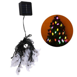 led outdoor string lights wholesale UK - Edison2011 2017 New Arrival Solar Power 30 Leds Ghost String Light 6m 19.7ft Outdoor Led Solar String Waterproof for Hallowmas Christmas