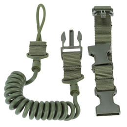 Wholesale Tactical Rifle Sling Adjustable Bungee Hunting Two Point Airsoft Gun Strap System Paintball Gun Sling