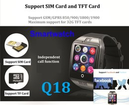 Bluetooth Smart Watch Sim Australia - Q18 smart watches for android phones Bluetooth Smartwatch with Camera Original q18 Support TF SIM Card Slot Bluetooth 3.0