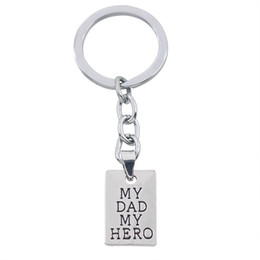 Hero Holder online shopping - Father s Day Gift My Dad My Hero Keychain Men Jewelry Fashion Keyring Key Chain Holder Family Dad Father Love Souvenirs Presents