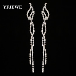 Trendy Wedding Gifts Canada - YFJEWE Trendy Crystal Long Dangle Earrings for Women Fashion Elegant Bridal Wedding Gift Jewelry Lady's Brincos Wholesale E437