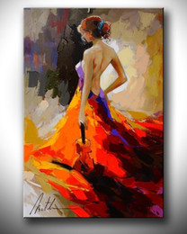 $enCountryForm.capitalKeyWord Australia - Pure Handcraft Modern Abstract Art oil painting Beautiful Lady,On High Quality Canvas Bedroom Decor size can be customized