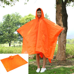raincoat backpack cover Canada - Multifunctional Raincoat rainwear Outdoor Travel Rain Poncho Backpack Rain Cover Waterproof Tent Awning Climbing Camping Hiking AT6927