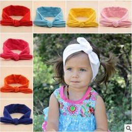 Baby Girls Bunny Ear Headbands Bows Elastic Bowknot Headbands Children Hair  Accessories Hairband Kids Turban Knot Headbands Headwear 22d17e713369